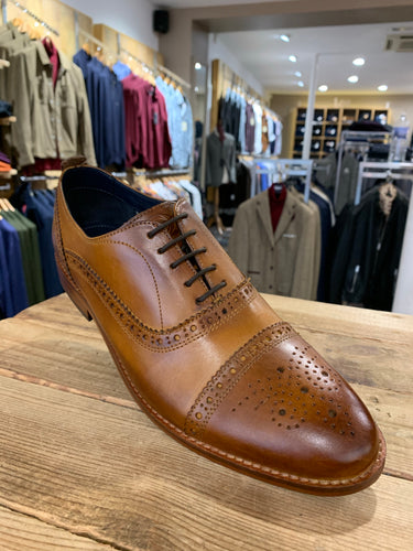 Base London tan brogue from Gere Menswear