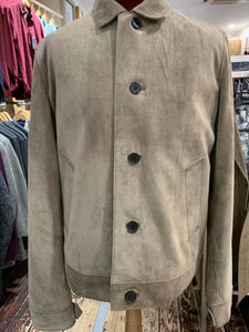 Stone suede jacket from Gere Menswear