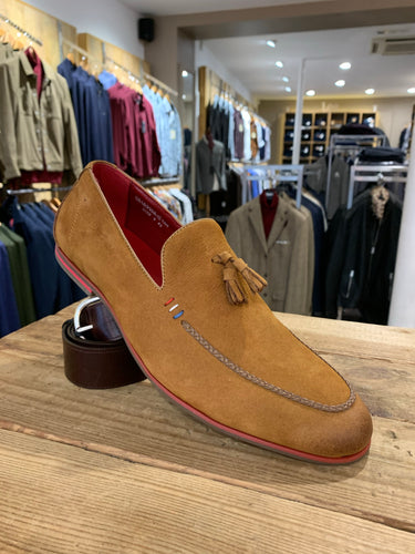Sergio Duletti tan suede tasselled loafer from Gere Menswear