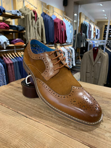 Paolo Vandini tan suede mix brogue