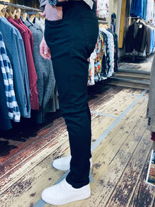 Casual Friday slim fit ULTRAFLEX true black jeans (side view) from Gere Menswear in Lincoln