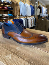 Load image into Gallery viewer, Azor Missori burnished chestnut and blue brogue from Gere Menswear side profile