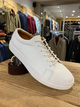 Load image into Gallery viewer, Kronstadt white leather trainers from Gere Menswear