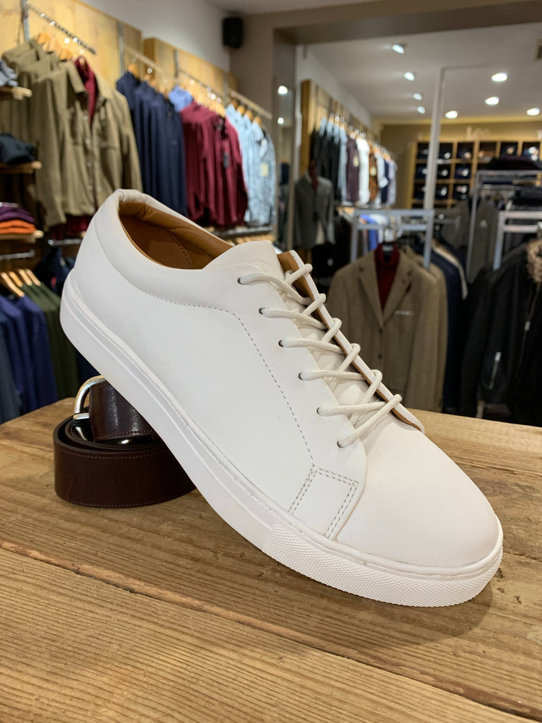 Kronstadt white leather trainers from Gere Menswear