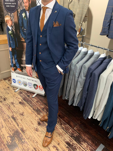 arc Darcy 'Max Royal' blue three piece suit (waistcoat, jacket and trousers sold separately) from Gere Menswear
