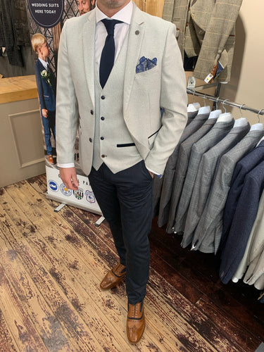 Marc Darcy 'Ronald Stone' jacket and waistcoat with Matinique dark navy dress chino (waistcoat, jacket and trousers sold separately) from Gere Menswear