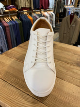 Load image into Gallery viewer, Kronstadt white leather trainers from Gere Menswear front view