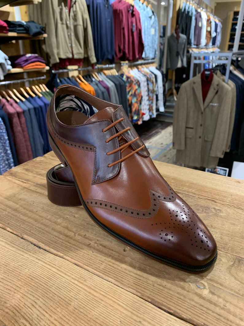 Paolo Vandini tan and brown brogues from Gere Menswear