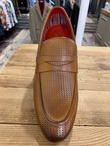 Base London woven effect tan loafers