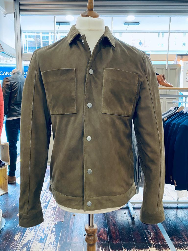Casual Friday suede jacket buttoned up from Gere Menswear