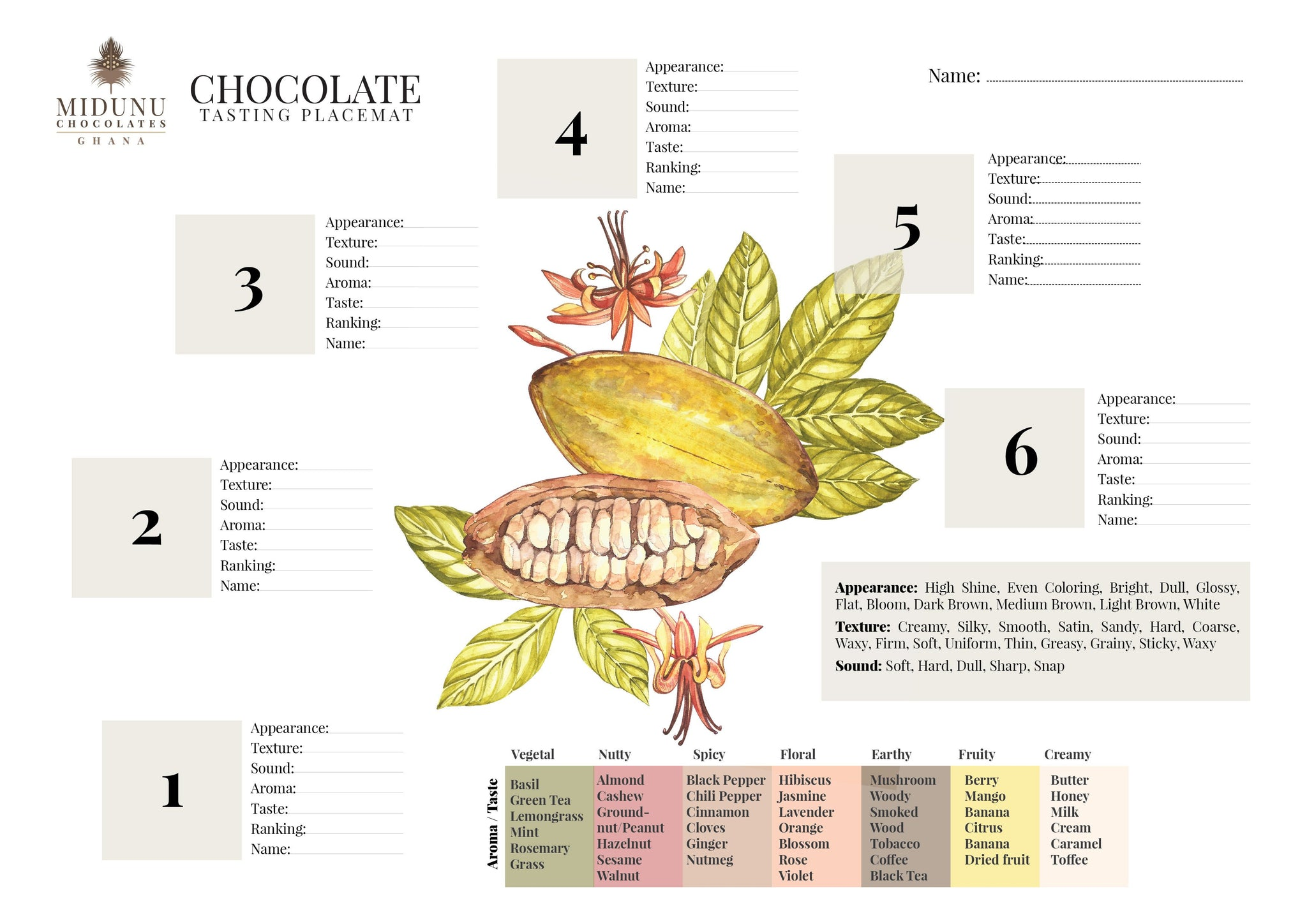 Chocolate Tasting Kit for Four