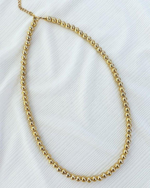 Gold Ball Necklace- Gold Plated