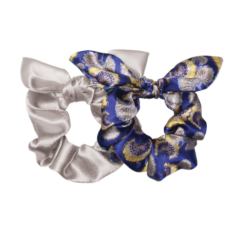 Midnight Gingko Bow Scrunchie Pack