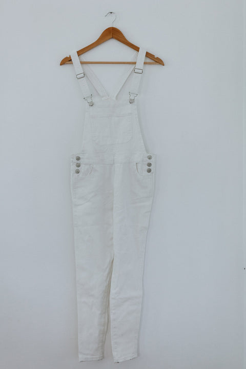 Standing Out Overalls- White