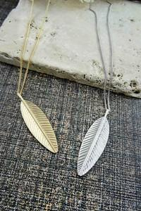 Feeling Feathery Necklace - Gold