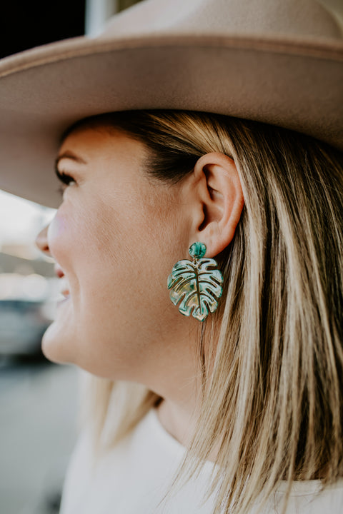 Palms of Paradise Earring