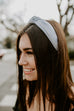 Hadley Headband with Cording- Light Gray