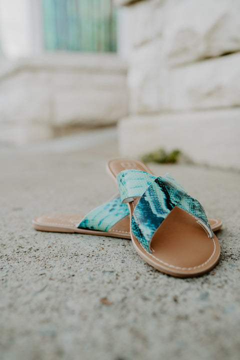 Matisse Pebble Sandal- Blue