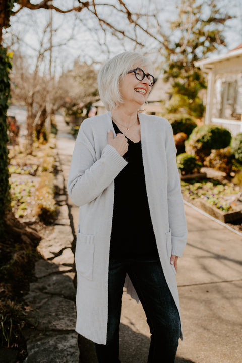 Cozy As Can Be Cardigan- Lavender