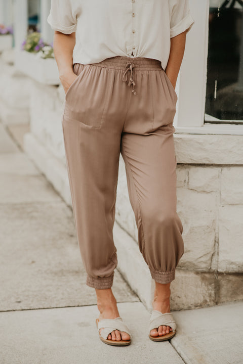 Walk This Way Jogger- Khaki