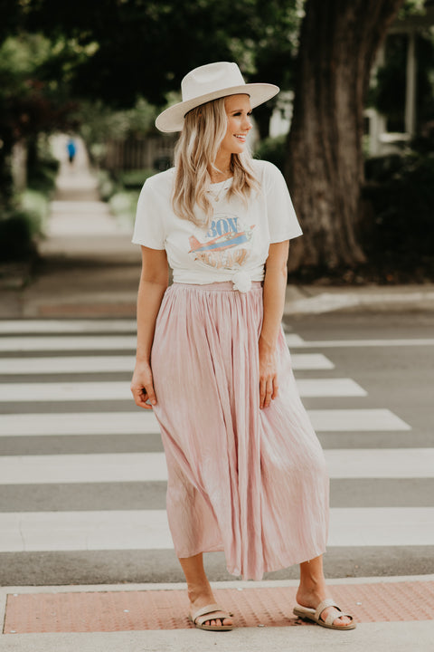 New Light Skirt- Blush