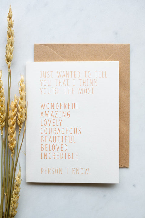 """Just Wanted To Tell You"" Girl Greeting Card"
