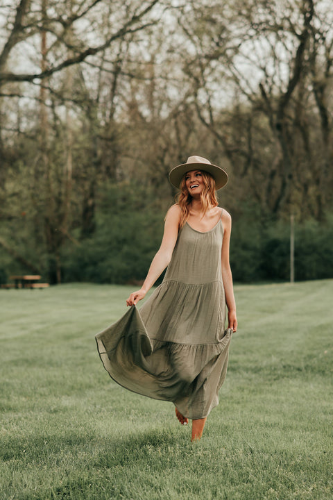 Daydreaming Maxi Dress- Olive