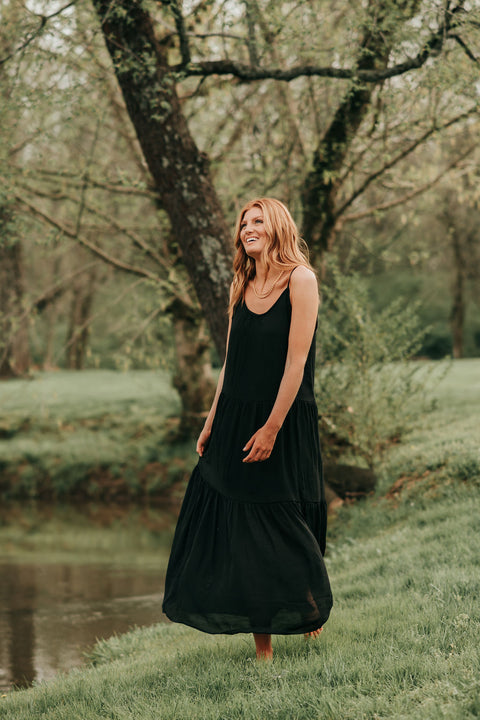 Daydreaming Maxi Dress- Black
