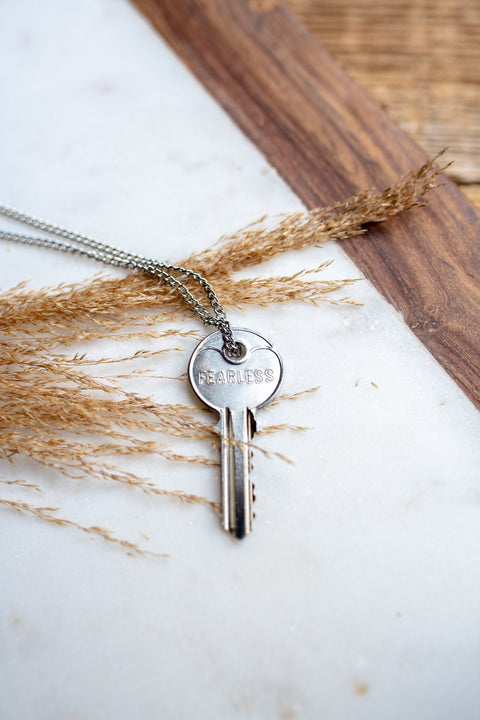 Classic Giving Key Necklace - Silver