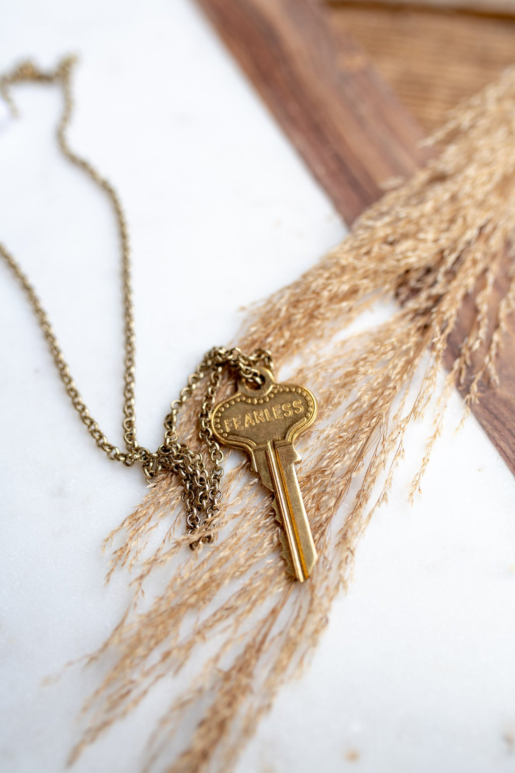 Classic Giving Key Necklace  - Gold