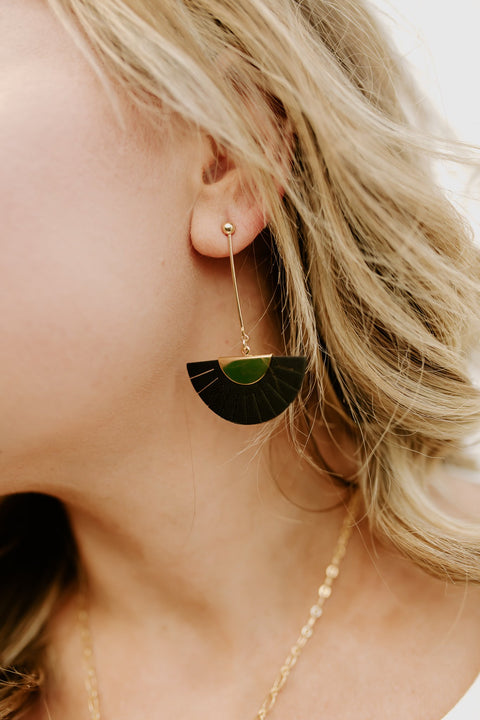 """Fan""-Tastic Earring - Black"