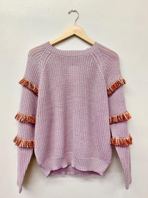 Nothing But Fringe Sweater