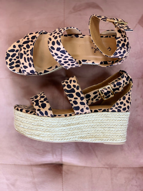 Take Me Somewhere Wedge - Leopard