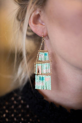 All About That Fringe Earring - Mint