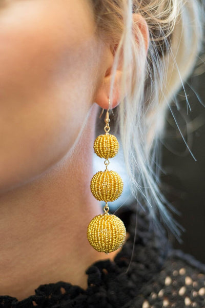 Three's A Crowd Earring - Gold
