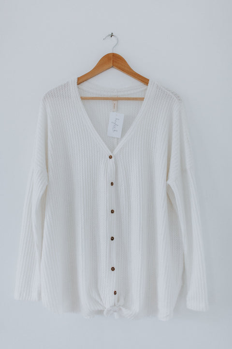 Not Just Mine Top - Ivory