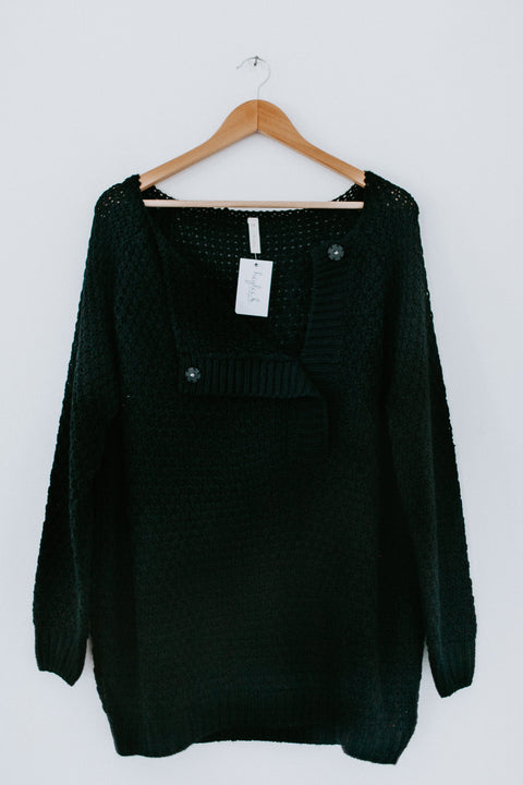 Pass The Plate Sweater - Black