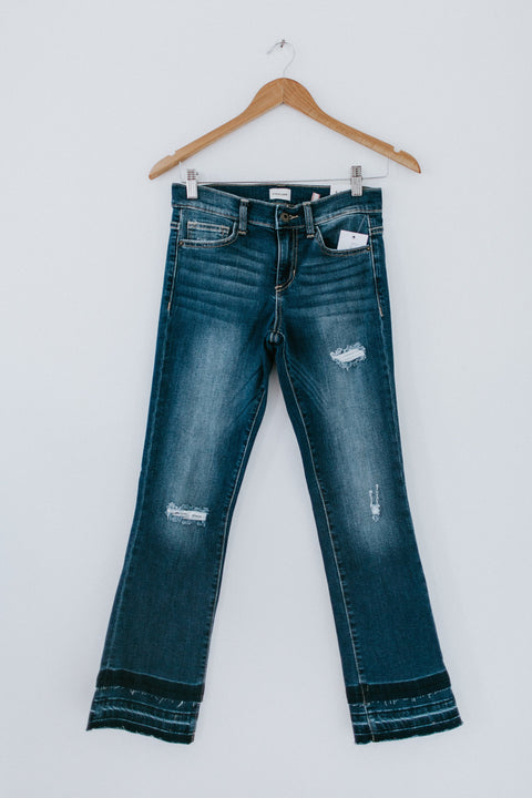 Off With It Cropped Denim Jean