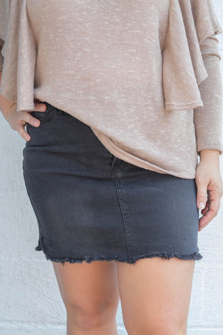 Mandy Denim Skirt - Black