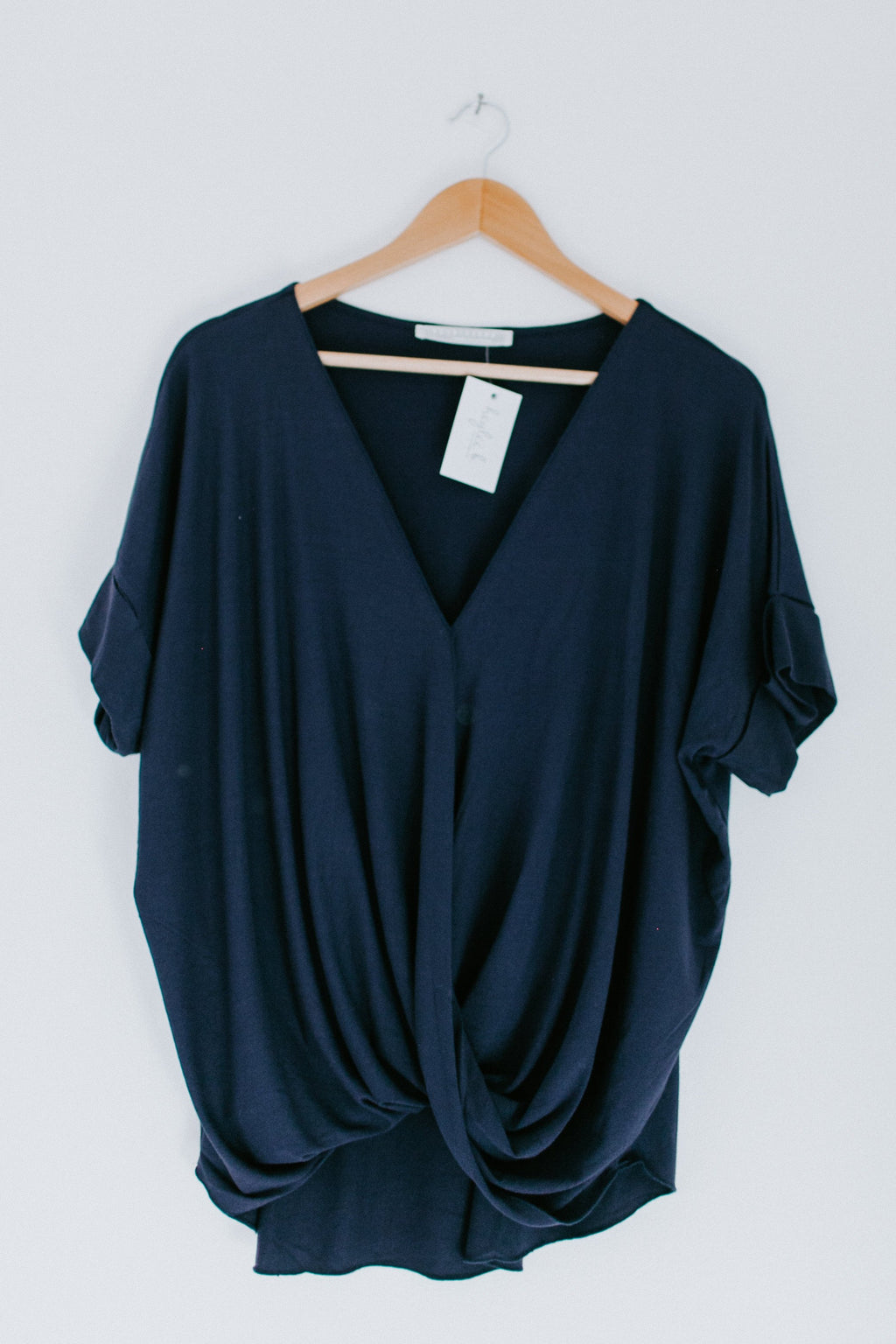 I Like To Wrap Top - Navy