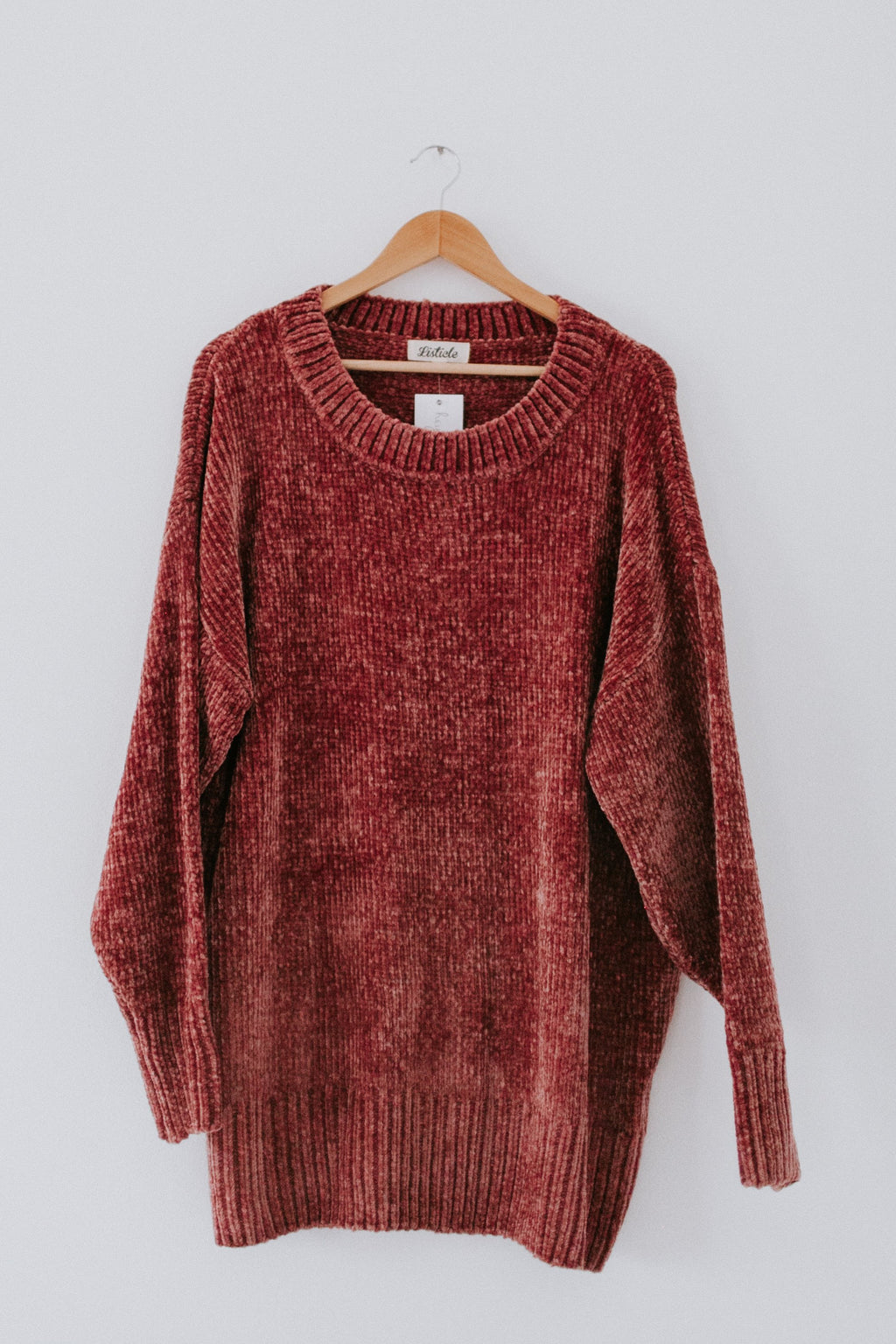 Softest Chenille Sweater - Rose