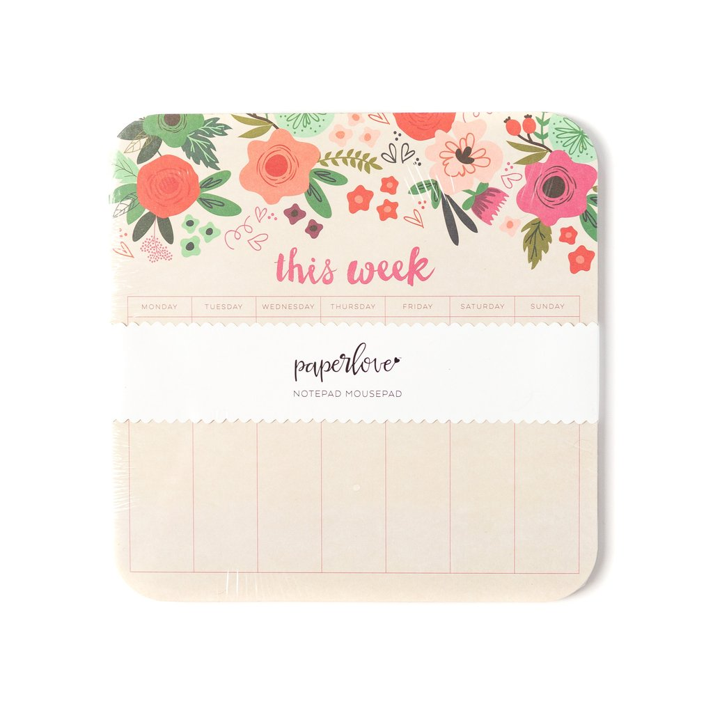 Paper Love Trend Mouse Pad Notepad