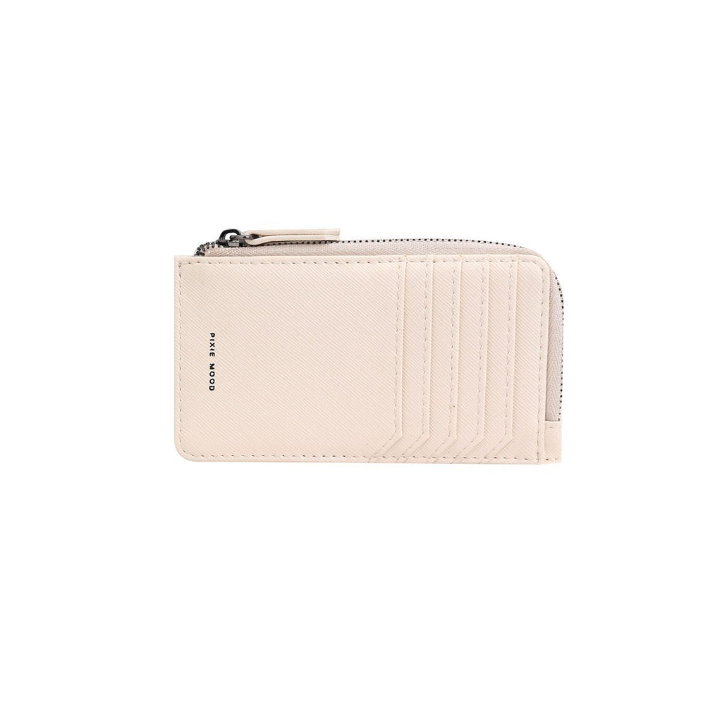 Quinn Zipper Wallet - Ivory