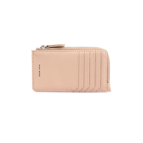 Quinn Zipper Wallet - Praline