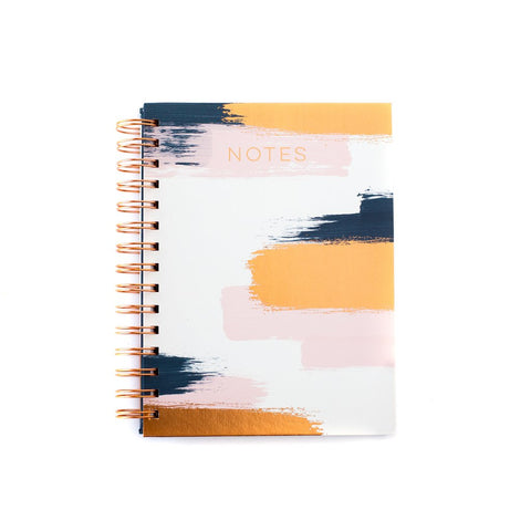 Brushed Copper Spiral Notebook