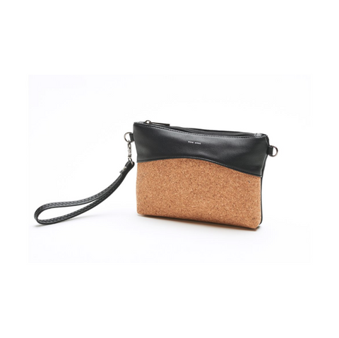 Nicole Small Pouch- Black/Cork