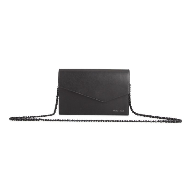 lovely luster no sale tax low cost Lucy Large Crossbody Clutch - Black - heylee b.