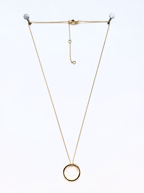 Believe Circle Necklace- Gold