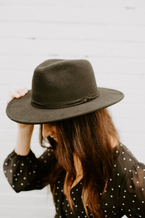 Panama Hat- Black