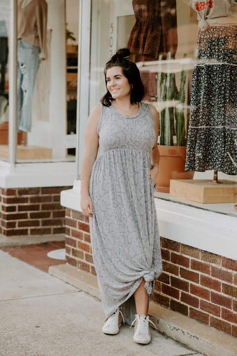 Beach Bound Dress- Grey